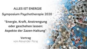 Symposium Psychotherapie 2020: Vortrag von Alexander Poraj